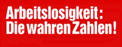 Tatsächliche Arbeitslosigkeit in Schleswig-Holstein